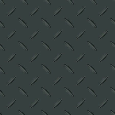 Metal texture seamless pattern with sample in swatches panel. Steel surface background. Vector illustration.
