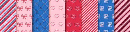 Valentine's day wrapping paper design templates. 일러스트