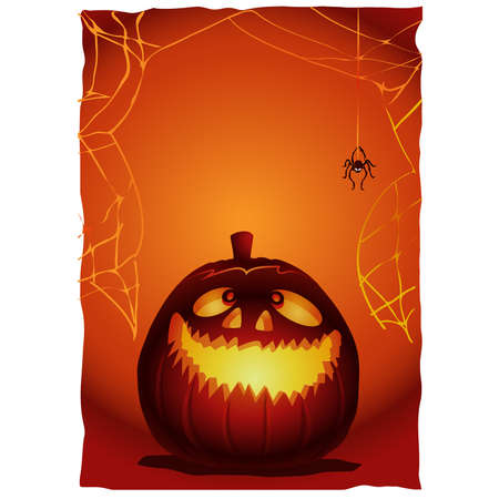 frightening: Halloween pumkin illustration