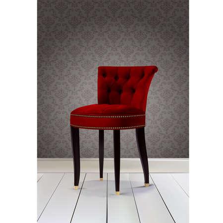 leather chair: Chair colore rosso di lusso Vettoriali