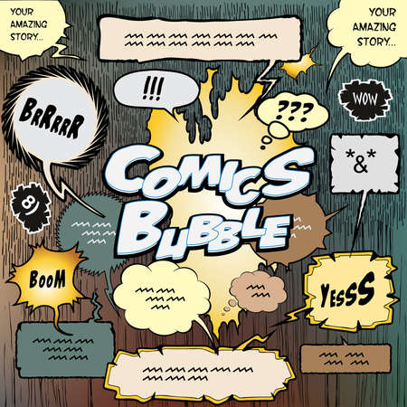 libro caricatura: Colecci�n de burbujas para crear algunas historias c�micas de dise�o