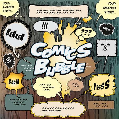 creare: Raccolta di bolle per creare un design storie a fumetti Vettoriali