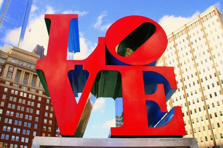 The LOVE sign in Philadelphia is iconic.