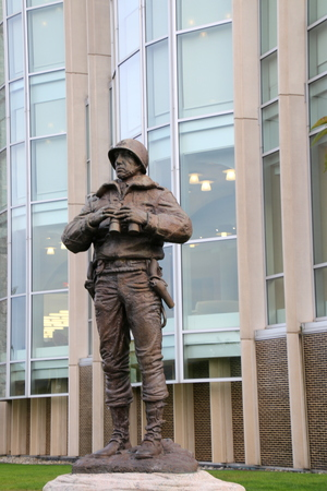 Statue of a soldier at West Point.