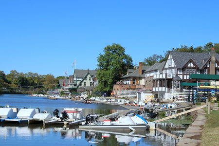 The popular boathouse row in Philadelphia.