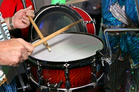 The beat goes on with the drums.