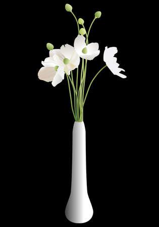 flores blancas sobre fondo negro