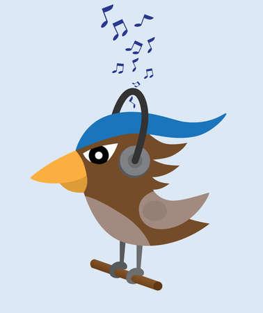 birds music Vector
