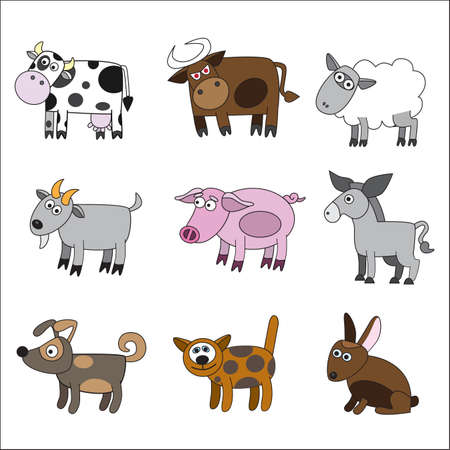 Domestic animal set Stock Vector - 7442588