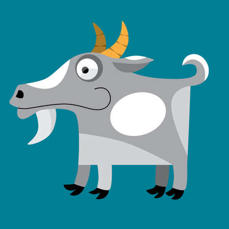 billy goat cartoon Vector