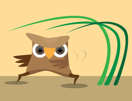 karateka: Karateka owl perform sport exercises Illustration