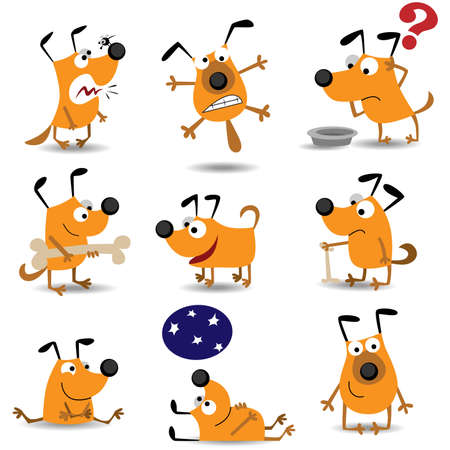 Funny dogs set Stock Vector - 7741284