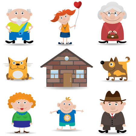 Family icon set Stock Vector - 7741313