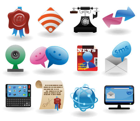 Communication icons set Stock Vector - 8544096