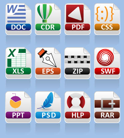 Computer documents icon collection #2 Illustration