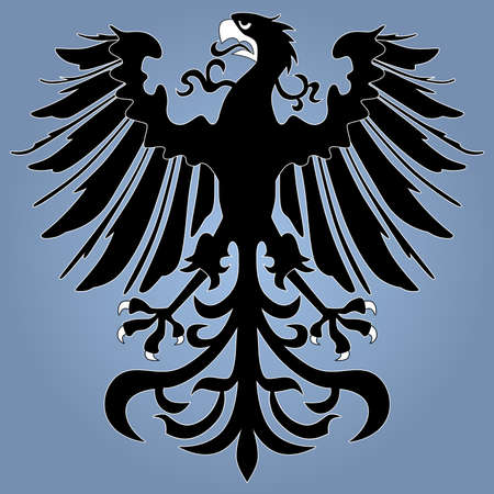 Silhouette of heraldic eagle Vector