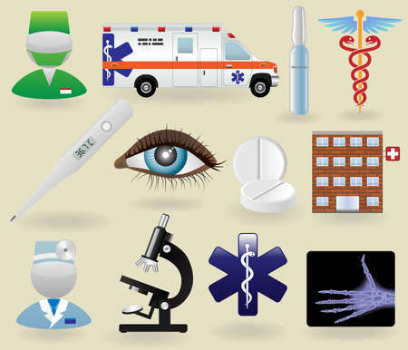 Medical icons and symbols set Stock Vector - 8544101