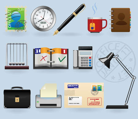 office icons set Stock Vector - 8544095