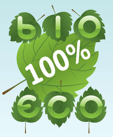 Bio and eco labels Stock Vector - 8544075