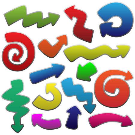 curving: funny arrows set