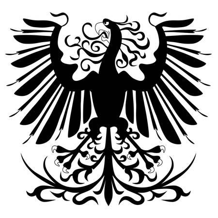 Black heraldic eagle Stock Vector - 8544070