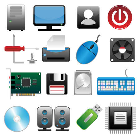 hard disk drive:  Computer icon set#2
