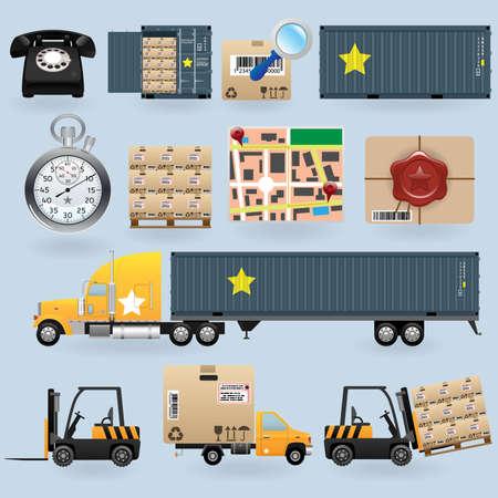 delivering: Conjunto de iconos de entrega