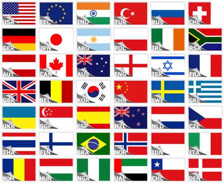bandiera inghilterra: Bandiere del mondo set (insieme di adesivi)