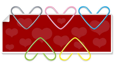 Clipped hearts set (Element for design illustration) Vector