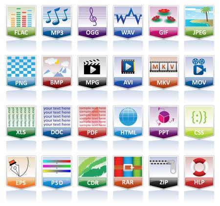 Document de jeu d'icônes (extension de fichier)