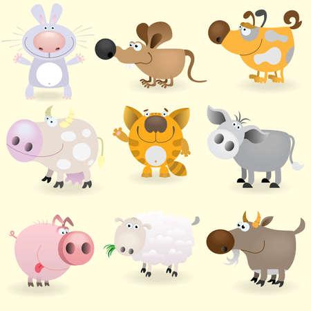 Domestic animals set Vector