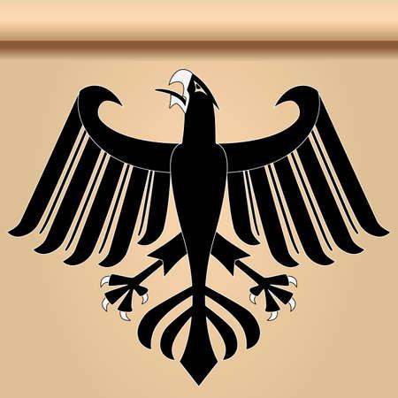 Heraldic eagle Illustration