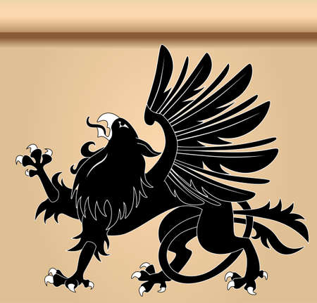 mythical: Heraldic griffin Illustration