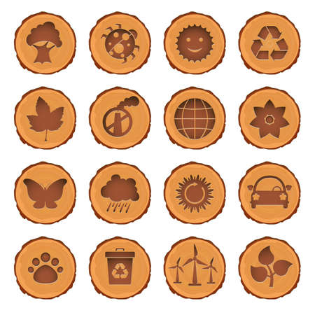 Eco and environment icons set Stock Vector - 9717667