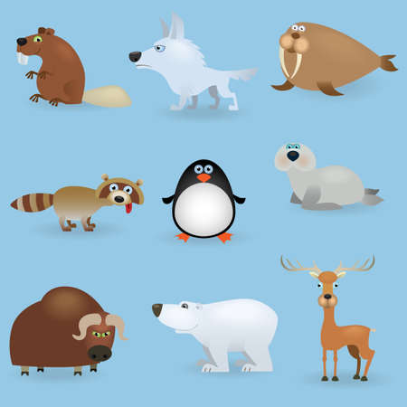 Wild animals set #3 (North) Vector
