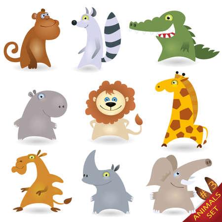critter: Conjunto de animales de dibujos animados # 3 Vectores
