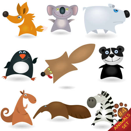 Cartoon animals set #4 Vector