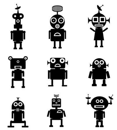 Ensemble de robots Illustration