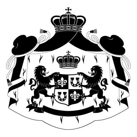 Coat of arms isolated on white background Illustration