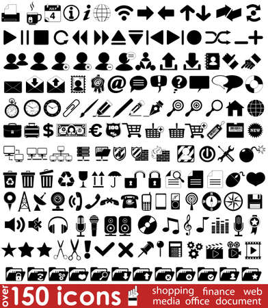 Over 150 web icons for your design