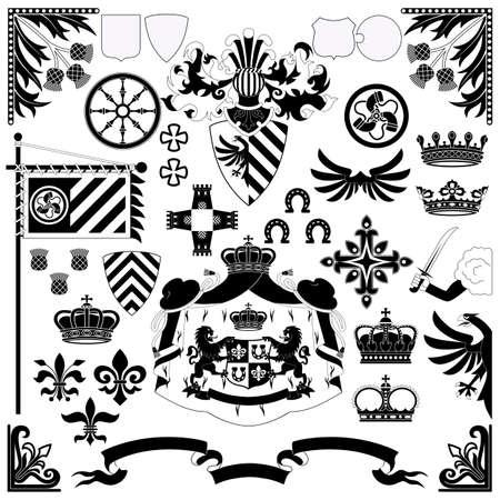 chevalerie: Heraldic d�finie pour vos projets de conception Illustration