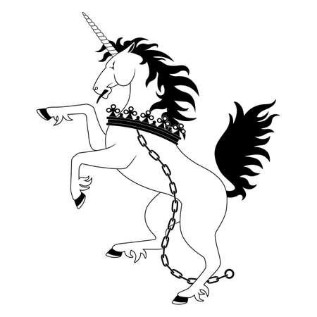crown tail: Heraldic unicorn