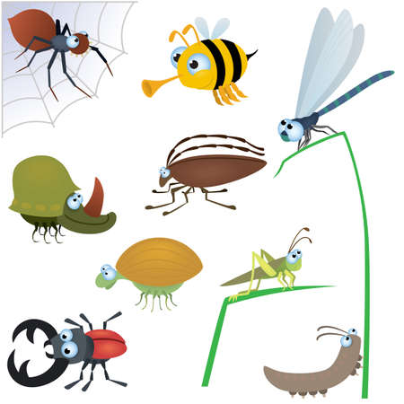 Funny insect set #2 Vector