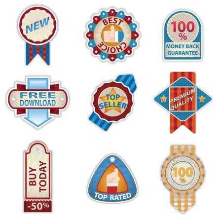 best seller: Retro Vintage Badges set Illustration
