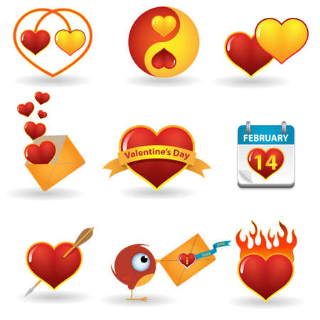 Valentines day icon set Stock Vector - 11889976