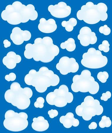 clouds cartoon: Nubes de dibujos animados creado