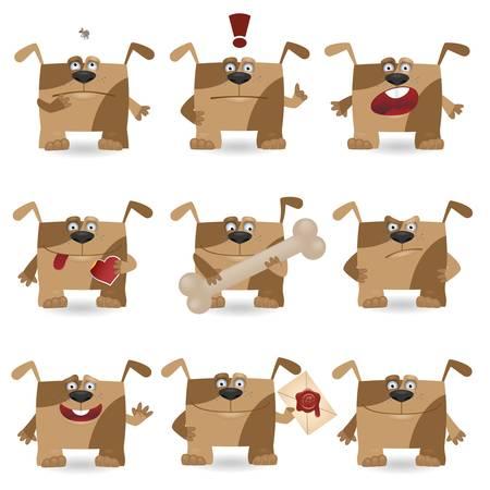 Funny cartoon dog set