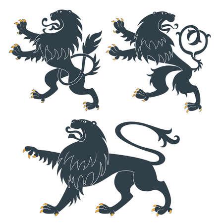 Heraldic Lions set Stock Vector - 13408740