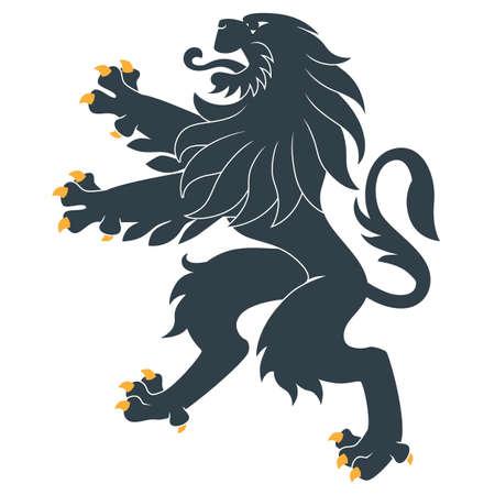 Permanent heraldische leeuw