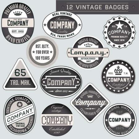 Vintage retro badges and labels set